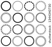 mod black chain circle frames | Shutterstock .eps vector #1344340730