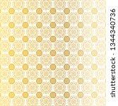 gold white ornate medallion...   Shutterstock .eps vector #1344340736