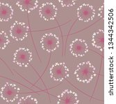 cute dandelion blowing vector... | Shutterstock .eps vector #1344342506