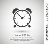 alarm clock icon | Shutterstock .eps vector #1344345140