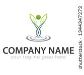 leaf logo template | Shutterstock .eps vector #1344347273