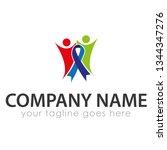 leaf logo template | Shutterstock .eps vector #1344347276