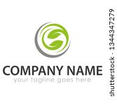 leaf logo template | Shutterstock .eps vector #1344347279