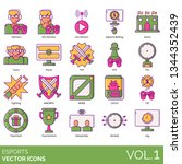 esports icons including gamer ... | Shutterstock .eps vector #1344352439