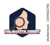 dermatologist logo for doctor... | Shutterstock .eps vector #1344362783
