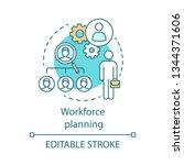 workforce planning concept icon.... | Shutterstock .eps vector #1344371606