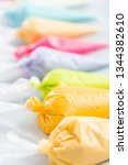 piping bags with pastel color... | Shutterstock . vector #1344382610