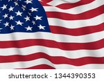 United States Flag Close Up...