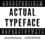 fontface   letters   english... | Shutterstock .eps vector #134439206