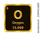 oxygen o chemical element icon. ... | Shutterstock .eps vector #1344411683