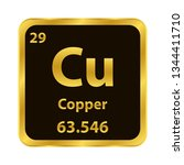 copper cu chemical element icon.... | Shutterstock .eps vector #1344411710