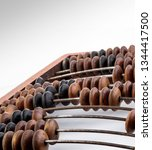 vintage abacus close up ... | Shutterstock . vector #1344417500