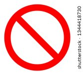 parking stop sign | Shutterstock . vector #1344418730