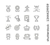 awards related icons  thin... | Shutterstock .eps vector #1344429959