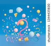 3d figures realistic vector...   Shutterstock .eps vector #1344435830