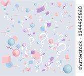 3d figures realistic vector...   Shutterstock .eps vector #1344435860