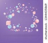 3d figures realistic vector...   Shutterstock .eps vector #1344435869