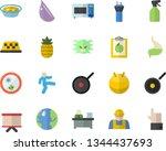 color flat icon set builder...   Shutterstock .eps vector #1344437693