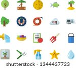 color flat icon set hiking pot...   Shutterstock .eps vector #1344437723