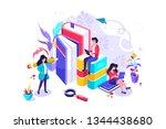 concept education  online... | Shutterstock .eps vector #1344438680