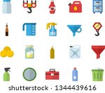 color flat icon set hook flat...   Shutterstock .eps vector #1344439616