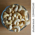 cashew nuts close up | Shutterstock . vector #1344442160
