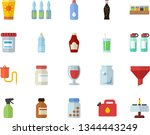 color flat icon set spice flat...   Shutterstock .eps vector #1344443249