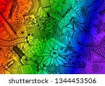 hand drawn doodle backdrop... | Shutterstock .eps vector #1344453506