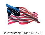 Usa Flag. Waving Flag Of The...