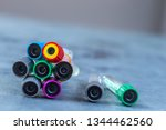 empty blood tube for blood... | Shutterstock . vector #1344462560