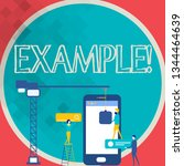 writing note showing example.... | Shutterstock . vector #1344464639