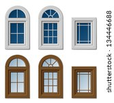 vector plastic windows white...   Shutterstock .eps vector #134446688