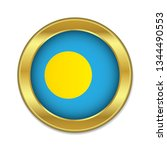simple round palau golden badge ...