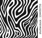 zebra texture black and white | Shutterstock .eps vector #134450753