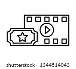film set objects icon   Shutterstock .eps vector #1344514043