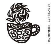 green tea. vector illustration | Shutterstock .eps vector #1344514139