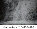 isolated waterfall in tropics | Shutterstock . vector #1344524900
