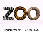 word zoo with fur letters. | Shutterstock . vector #134453168