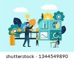 vector illustration  investment ... | Shutterstock .eps vector #1344549890