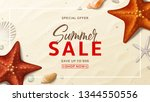 summer sale promo vector... | Shutterstock .eps vector #1344550556