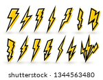 set of thunderbolt and high... | Shutterstock .eps vector #1344563480