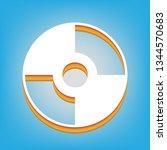 cd or dvd sign. vector. white... | Shutterstock .eps vector #1344570683