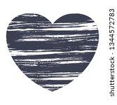 love heart paint brush shapes....   Shutterstock .eps vector #1344572783