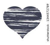 love heart paint brush shapes....   Shutterstock .eps vector #1344572789