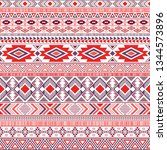 aztec american indian pattern... | Shutterstock .eps vector #1344573896