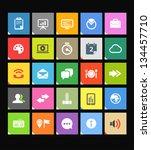web color tile interface... | Shutterstock .eps vector #134457710