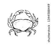 illustration of a big crab.   Shutterstock .eps vector #1344588449