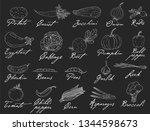 big set elements with hand... | Shutterstock .eps vector #1344598673