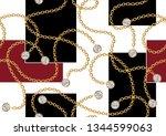 seamless golden chain patterns  ... | Shutterstock .eps vector #1344599063