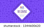 Stock vector banner template for pet shop veterinary clinic pet store zoo shelter card flyer banner 1344600620